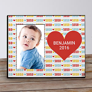 Personalized Red Heart Kids Photo Frame