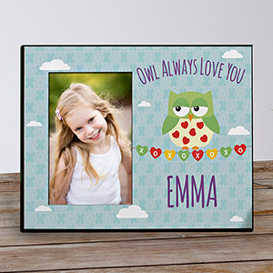 Personalized Owl Always Love You Kids Photo Frame