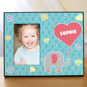 Personalized Elephant Love Kids Photo Frame | Personalized Picture Frame For Kids