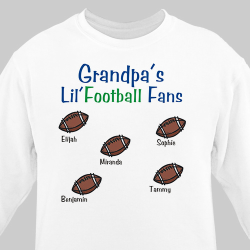 Lil' Football Fans Sweatshirt | Personalized Sweatshirts