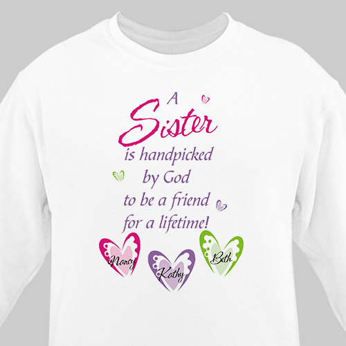 Personalized Sister Sweatshirt | Personalized Sister Gifts