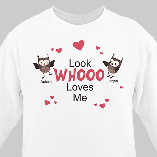 Look Whooo Loves Me Sweatshirt | Personalized Grandma Sweatshirts