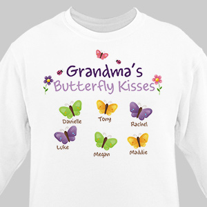Butterfly Kisses Personalized Sweatshirt 53396x