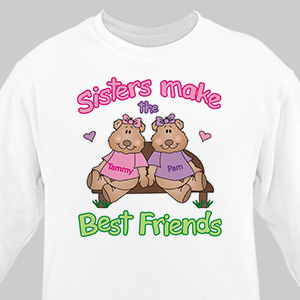 Sisters, Best Friends Sweatshirt