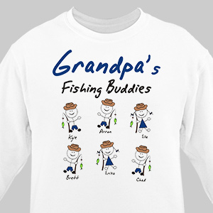 Personalized Fishing Buddies Sweatshirt 54274X