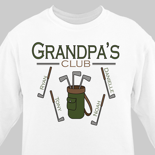 Personalized Golf Club Sweatshirt | Golf Gifts For Dad