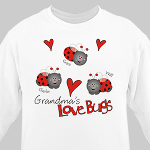 Love Lady Bugs Sweatshirt | Personalized Gifts For Grandma