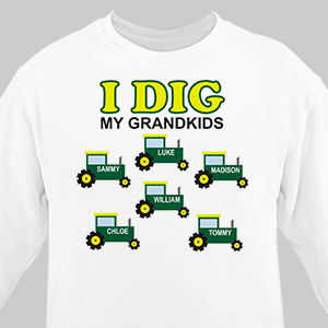 Personalized I Dig My Kids Sweatshirt 55935X