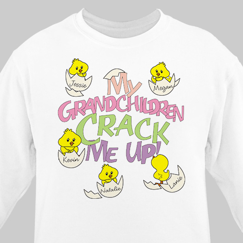 Crack Me Up Personalized Sweatshirt | Personalized Grandma Shirts