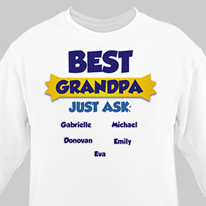 Personalized Best...Just Ask Sweatshirt 56254X