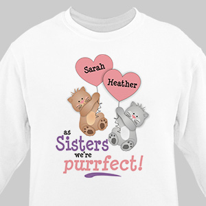 Purrfect Sister Sweatshirt | Personalized Sweatshirts