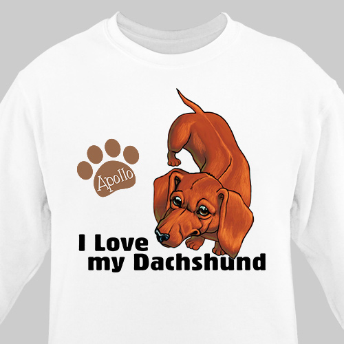 Personalized I Love My Dachshund Sweatshirt | Personalized Sweatshirts