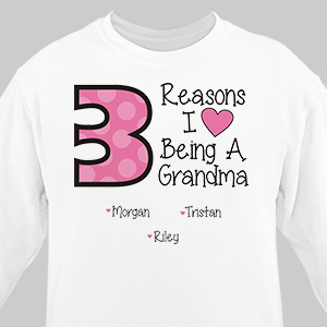 Personalized Reasons I Love Sweatshirt 57097X
