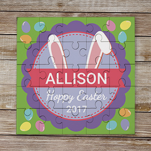 Personalized Bunny Ears Kids Puzzle 6100031