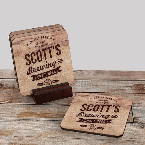 Personalized Brewing Company Coaster Set | Housewarming Gifts