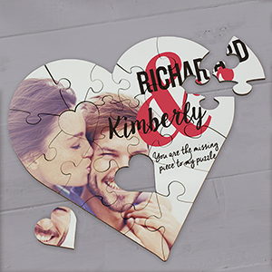 Personalized You Are The Missing Piece Heart Puzzle 6110212