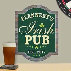 Personalized Irish Pub Wall Sign | Personalized Gifts
