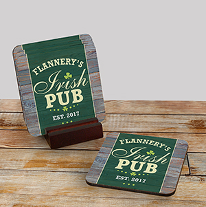 Personalized Irish Pub Coaster Set 6111939CS