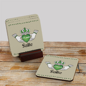 Personalized Failte Irish Coaster Set 621579CS