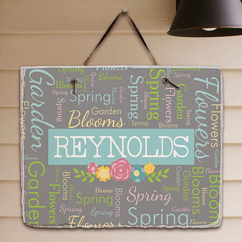 Filigree Personalized Slate Plaque | Personalized Welcome Signs
