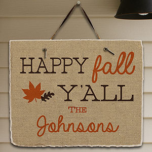 Personalized Happy Fall Ya'll Slate Plaque 631106087
