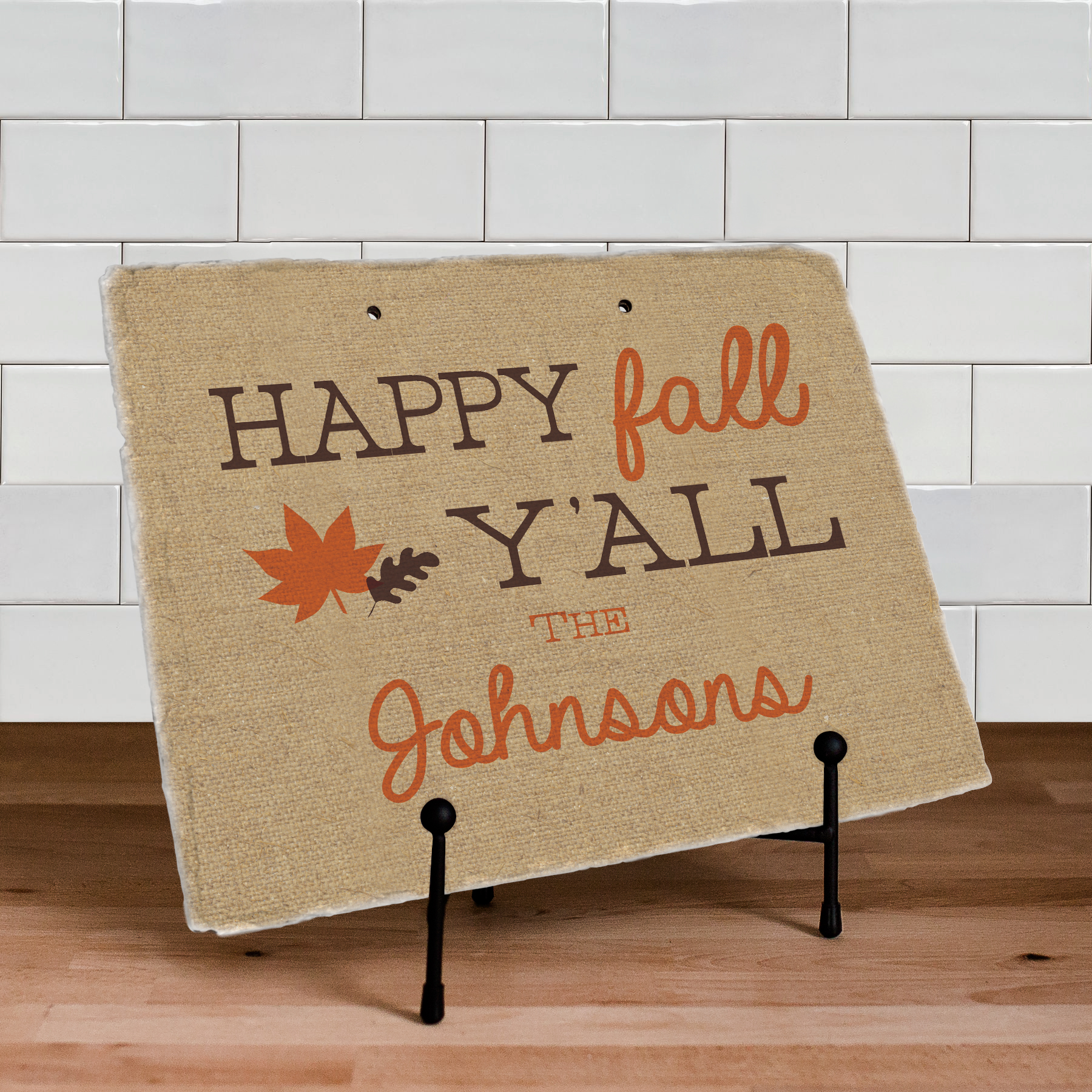 Personalized Happy Fall Ya'll Slate Plaque | Personalized Welcome Signs