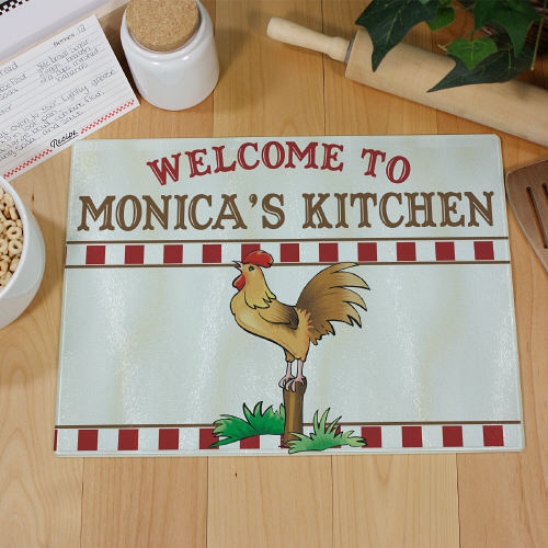 Rooster Kitchen Cutting Board | Personalized Cutting Board