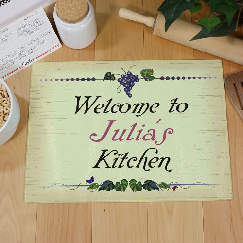 Winery Kitchen Personalized Cutting Board | Personalized Housewarming Gifts