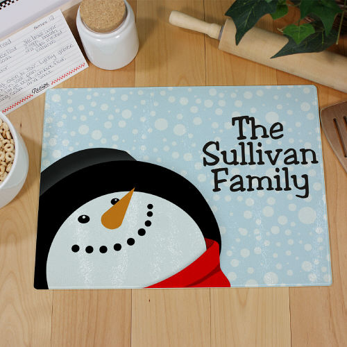 Let It Snow Personalized Cutting Board | Personalized Christmas Decor