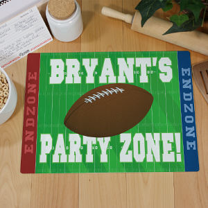 Football Party Zone Personalized Cutting Board | Personalized Glass Cutting Boards