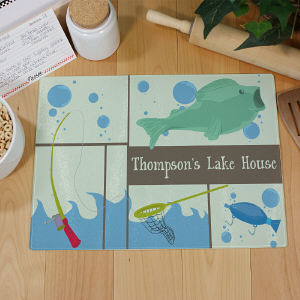 Personalized Fisherman Cutting Board | Personalized Housewarming Gifts