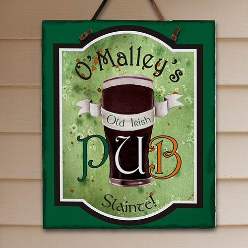 Personalized Old Irish Pub Slate Plaque 63163066