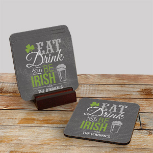 Personalized Irish Welcome Coaster Set 674079CS