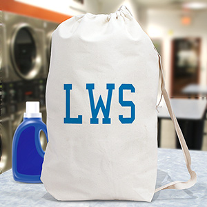 Personalized Initials Laundry Bag