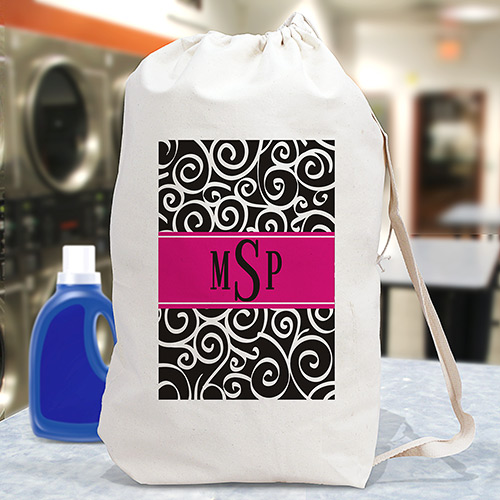 Monogrammed Laundry Bag | Monogrammed Graduation Gifts