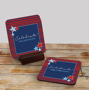 Personalized Patriotic Coaster Set 695249CS