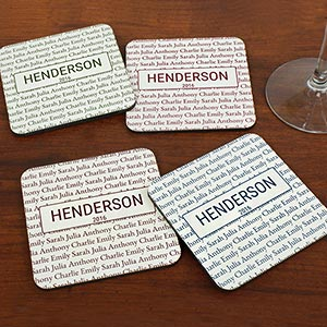 Our Family Personalized Coasters