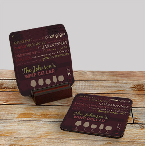 My Wine Cellar Personalized Coasters 699049CS