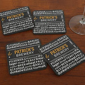My Brewery Personalized Coasters
