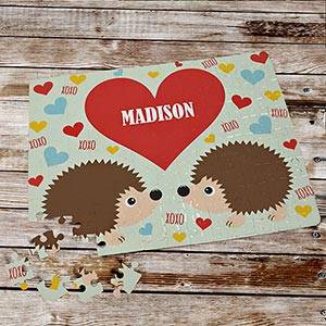 Personalized Hedgehogs Love Puzzle