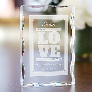 Engraved I'm in Love with You Acrylic Block