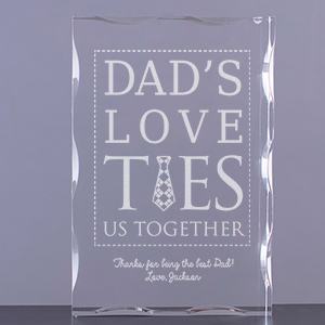 Engraved Dad's Love Ties Us Together Keepsake 7103611
