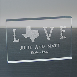 Engraved Love Established Acrylic Keepsake 7110023