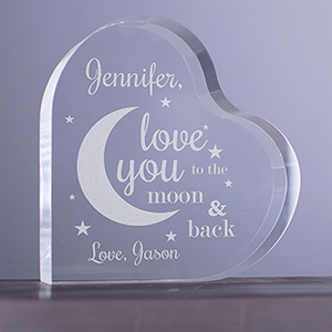 Engraved To The Moon and Back Acrylic Keepsake 7110032