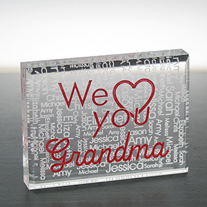 Engraved We Love You Acrylic Block Keepsake 7110133