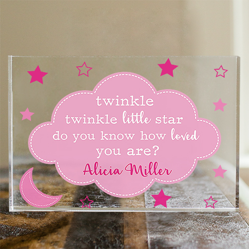 Personalized Twinkle Twinkle Little Star Keepsake | Nursery Keepsake for Baby