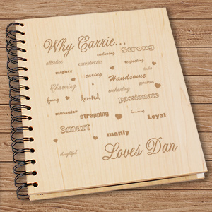 Engraved Why I Love You Wooden Photo Album 721624
