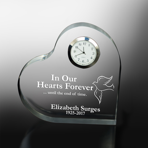 In Our Hearts Forever Personalized Memorial Heart Keepsake | Remembrance Gifts