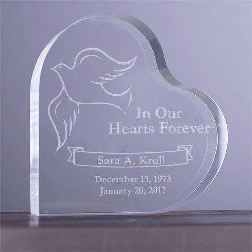 Engraved In Our Hearts Forever Heart Sympathy Gift Keepsake 772132N