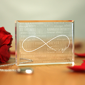 Engraved Infinity Acrylic Keepsake Block 773213